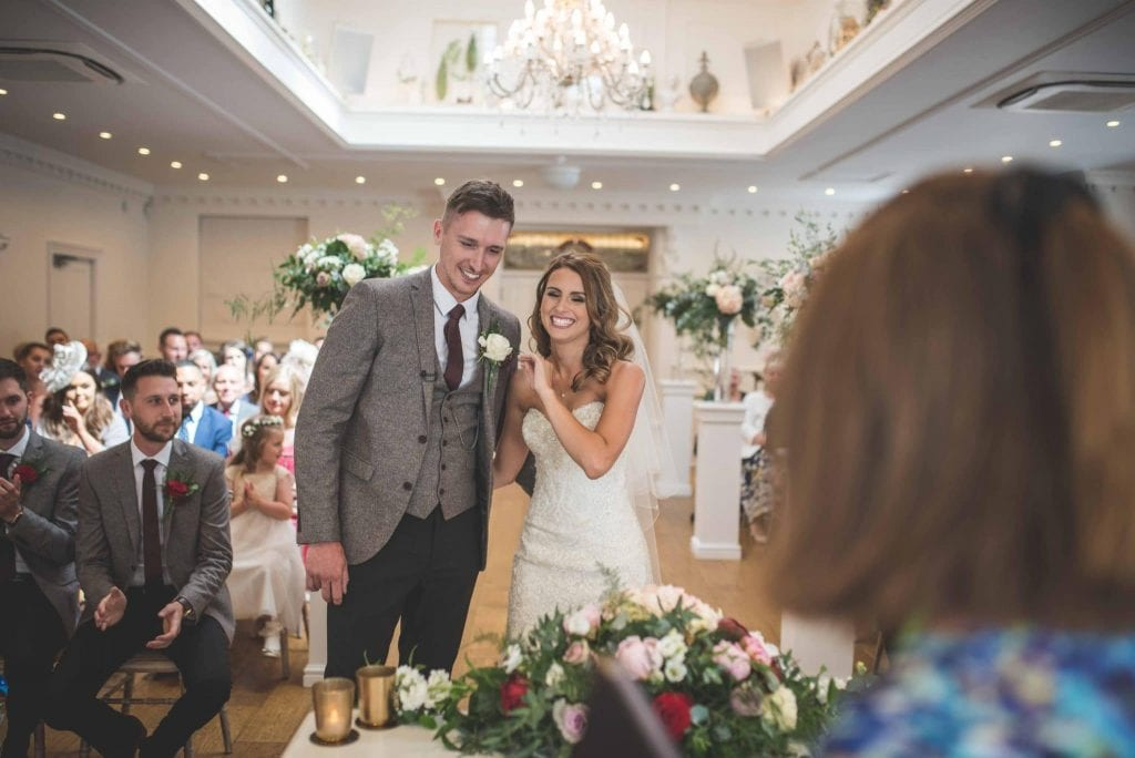 Bride and Groom just married at Ashfield House Weddings by Ollie Gyte Photography