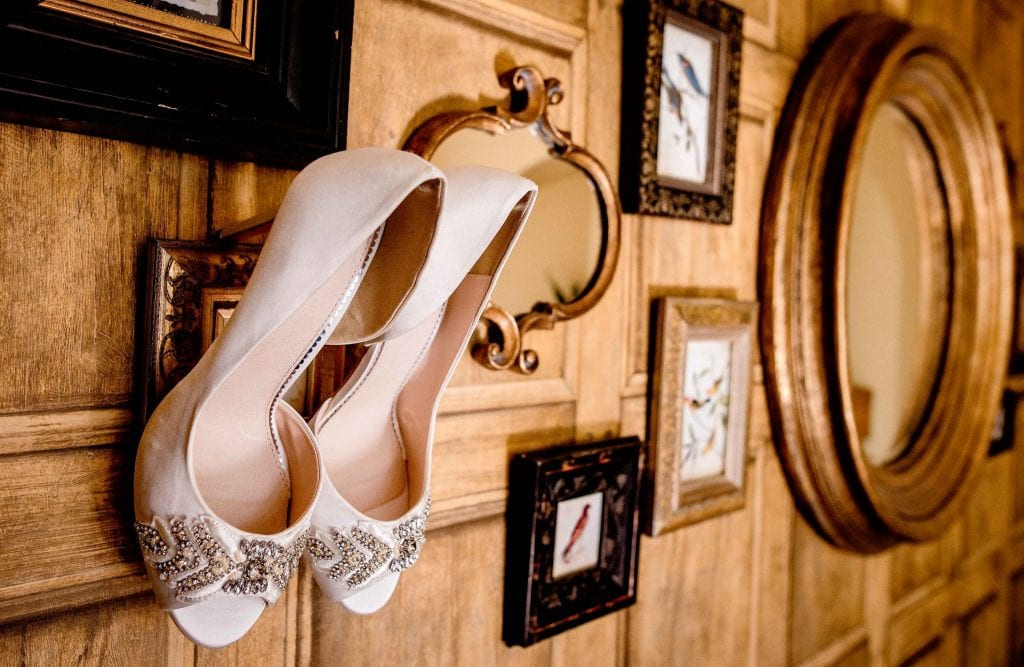Brides Shoes Eaves Hall Clotheroe Ollie Gyte Photography