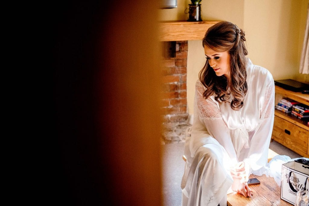 Bride Eaves Hall Clitheroe Ollie Gyte Photography