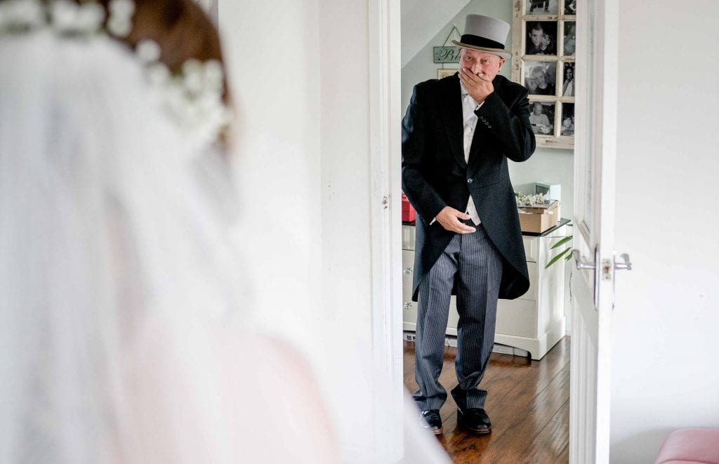 Astley Bank Hotel Botlon Wedding Photography Fathers First Look by Ollie Gyte Photography