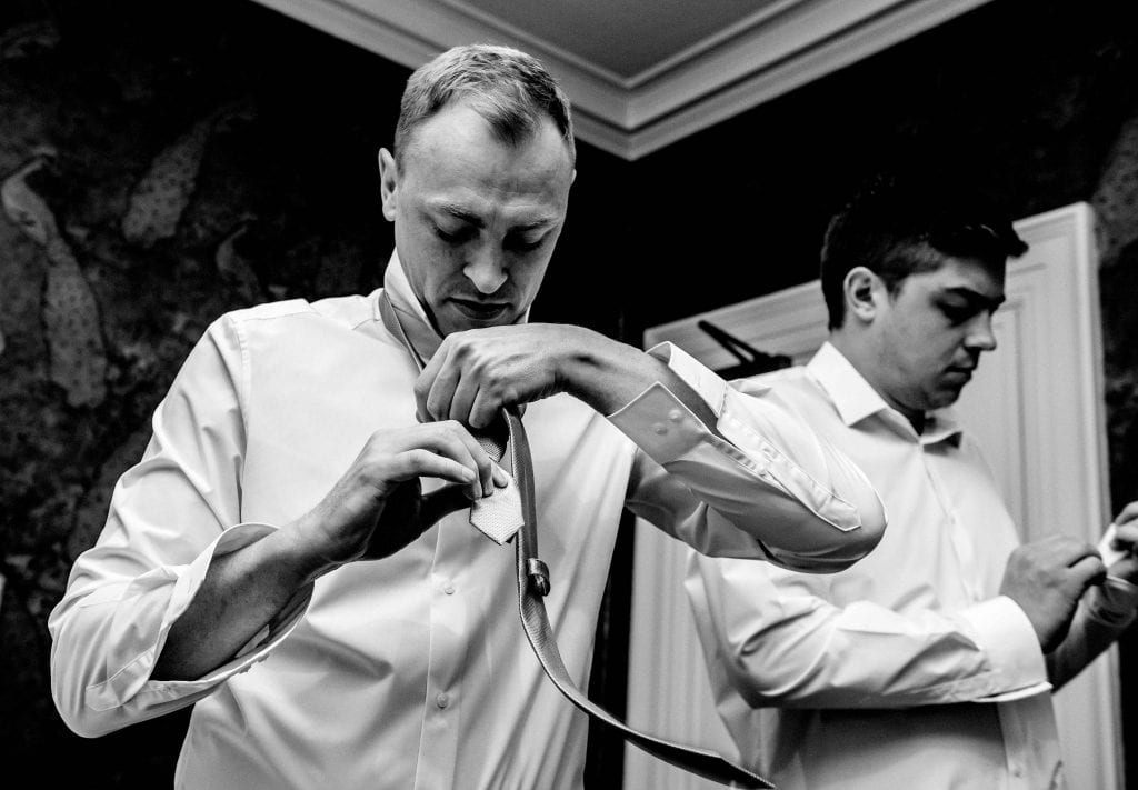 Groom Prep photographed by Ollie Gyte Photography