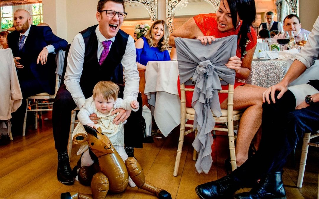 Having fun at Eaves Hall Clitheroe Wedding Photographer- Ollie Gyte Photography