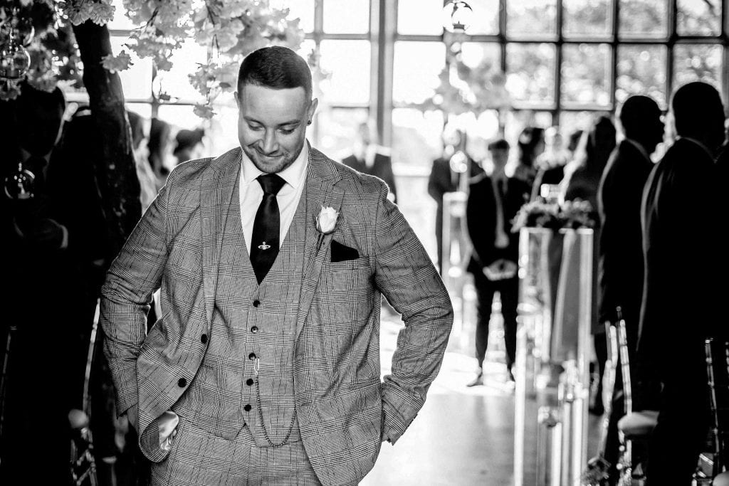 Groom Getting Nerves Hallmark Hotel Frankby Wirral wedding photographer by Ollie Gyte Photography
