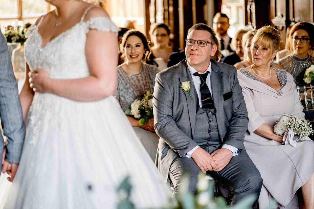 Proud Dad Hallmark Hotel Frankby Wirral wedding photographer by Ollie Gyte Photography