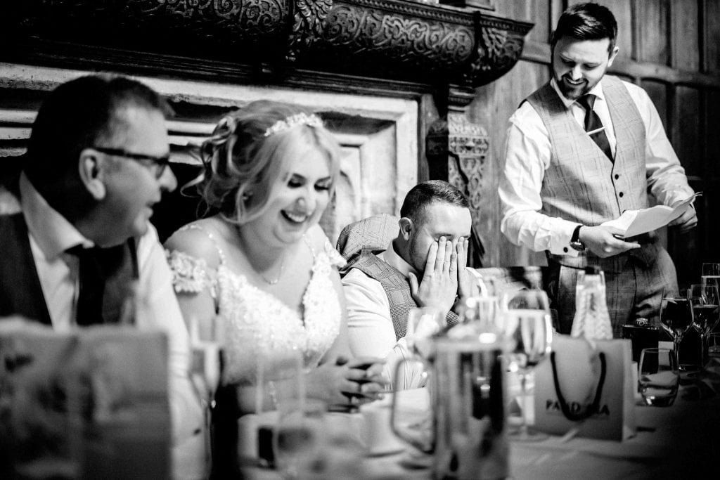 Best man speech Hallmark Hotel Frankby Wirral wedding photographer by Ollie Gyte Photography