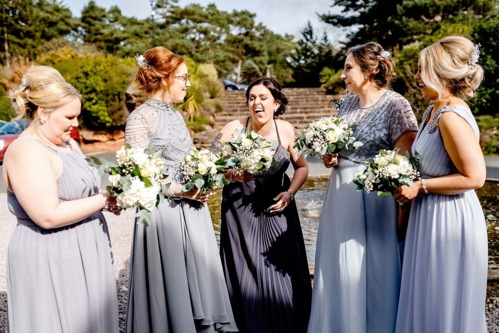 Crazy Bridesmaid Hallmark Hotel Frankby Wirral wedding photographer by Ollie Gyte Photography